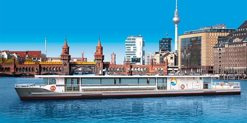 Bei uns Berlins neues Solarschiff für Ihr Event mieten